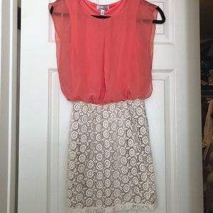 Dresses & Skirts - Coral lace dress